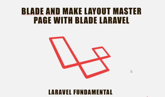 Create master layout with sub page using blade in Laravel - First Code