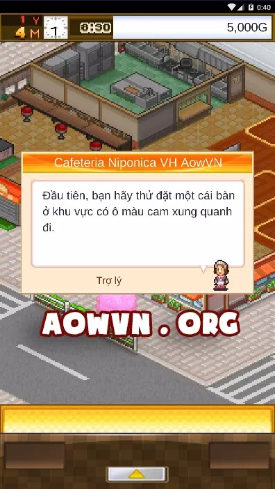 game cafe nippon android viet hoa aowvn%2B%25283%2529 - [ HOT ] Game Cafeteria Nipponica Việt Hoá | Android - Quản Lý Quán Ăn