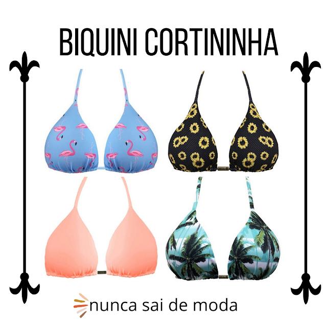 Biquini Cortininha escolha o seu