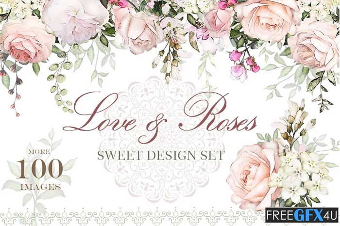 Love & Roses Floral Design Set