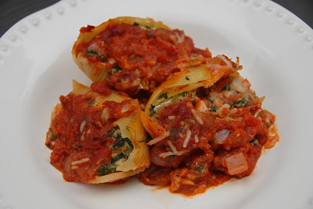 chicken sausage spinach stuffed shells pasta