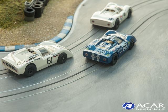 Porsche 910 #61 Guy Verriere 24h Le Mans 1970 Slot Car im Maßstab h0