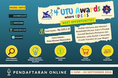 Lomba Mahasiswa Nasional UTU Awards 2018 di Universitas Teuku Umar Aceh