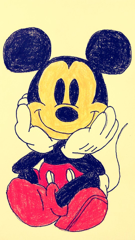 Simple Mouse Halloween Costume: Step By Step Mickey Mouse Drawing Tutorial