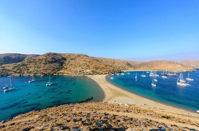 Κύθνος, η πιο εντυπωσιακή παραλία του νησιού