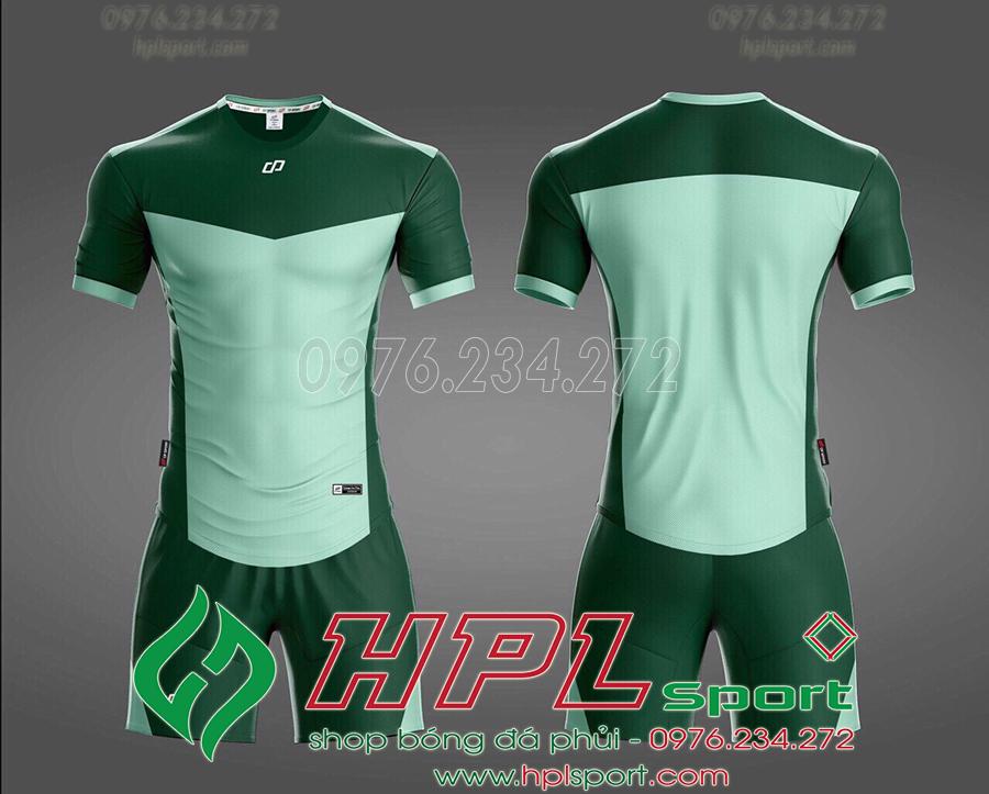 Áo ko logo HHD màu xanh ngọc