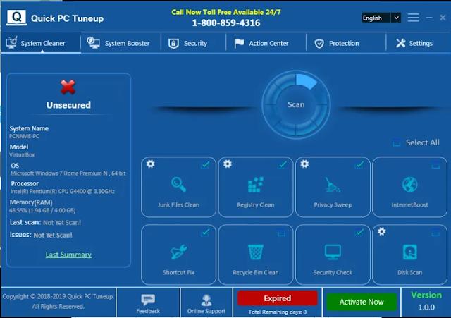 Quick PC Tuneup (Falso optimizador)