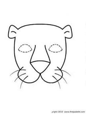 máscara de leona para colorear