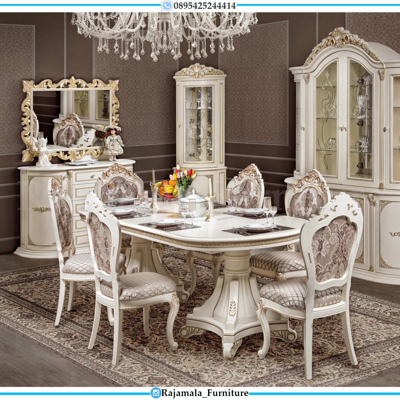 Eveline Set Meja Makan Mewah Jepara Ukiran Classic Luxury New RM-0122