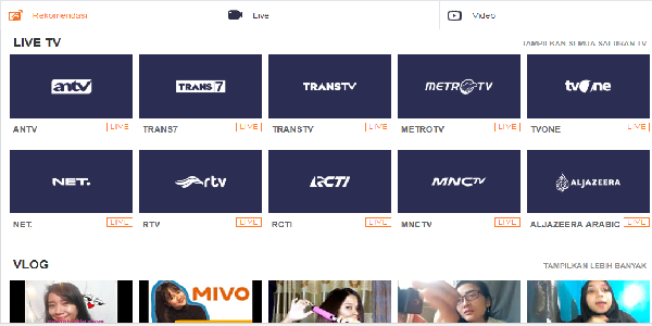Aplikasi Live Streaming MIVO