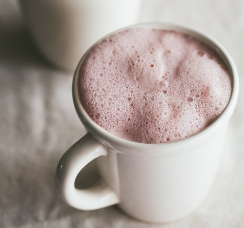HIBISCUS GINGER LATTE #drinks #antiinflammatory
