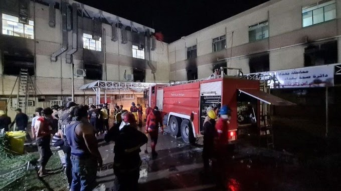 58 dead in Baghdad Covid hospital fire