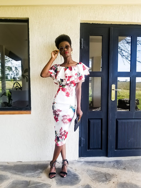 Floral Dress Outfit Idea: Nakuru Vacation Outfit One