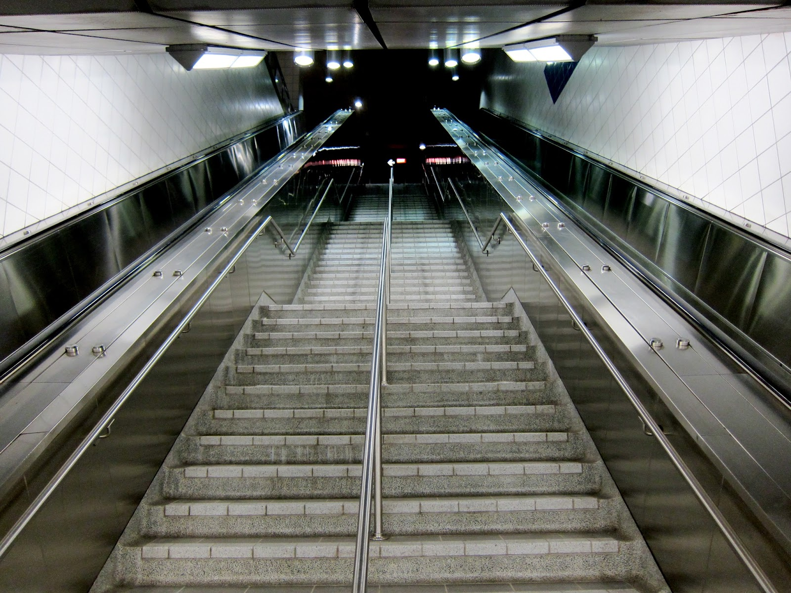 Main entrance stairwell at Bayview subway station