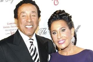 Frances Glandney with her celebrity husband Smokey Robinson