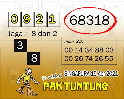 Syair SGP Kamis 15 April 2021 -