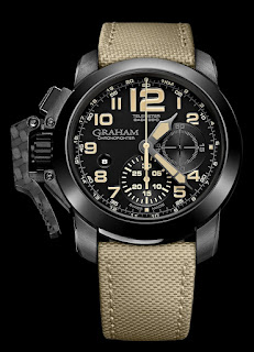Montre Graham Chronofighter Oversize Black Sahara référence 2CCAU.B02A