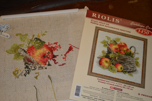 Riolis Cross Stitch Kit 1450 -- Ripe Applies