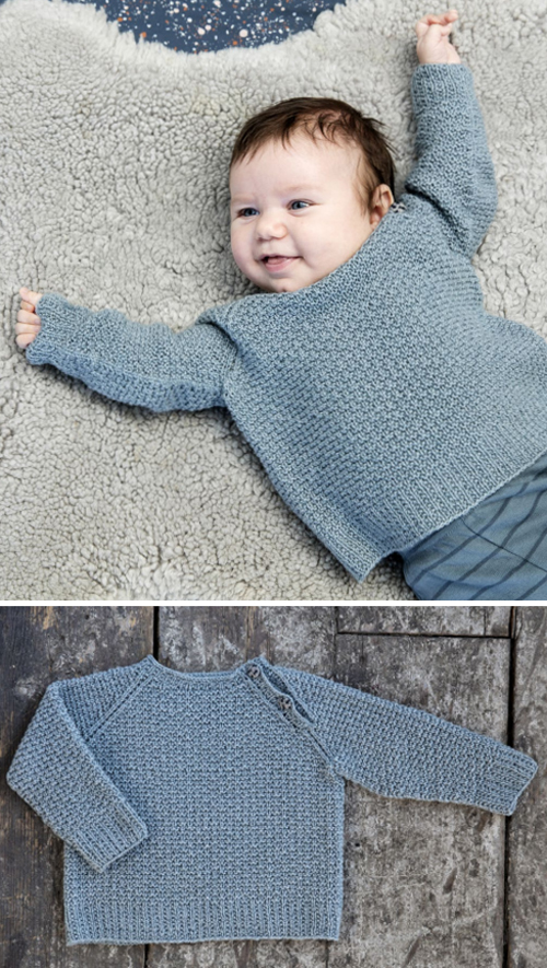 Elliot (a lovely baby sweater) - Free Pattern
