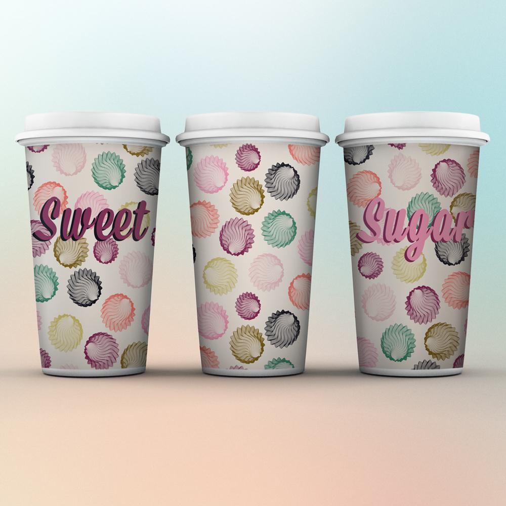 Sweet coffee cups with nice design
