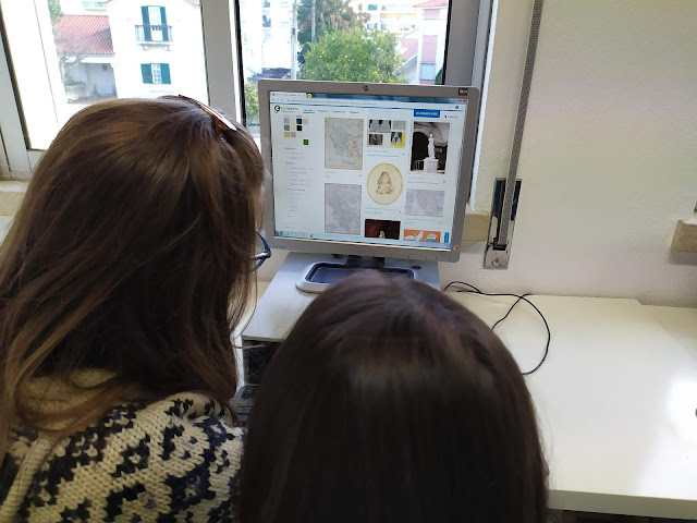 students searching for representation of monsters on the Europeana Collections