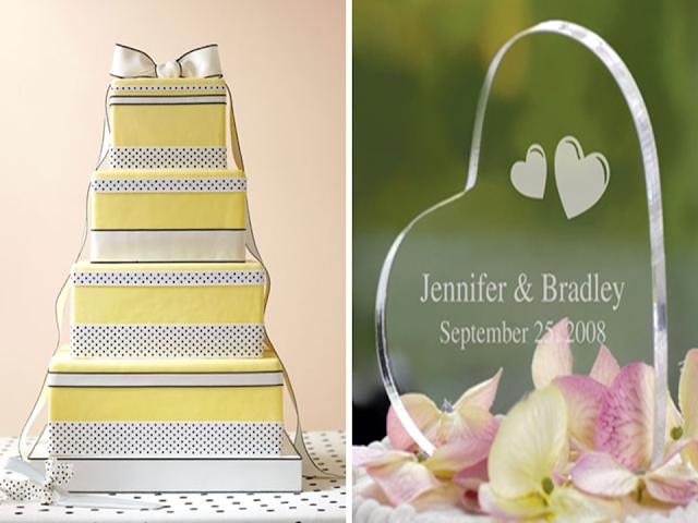 topo de bolo com laços para casamento