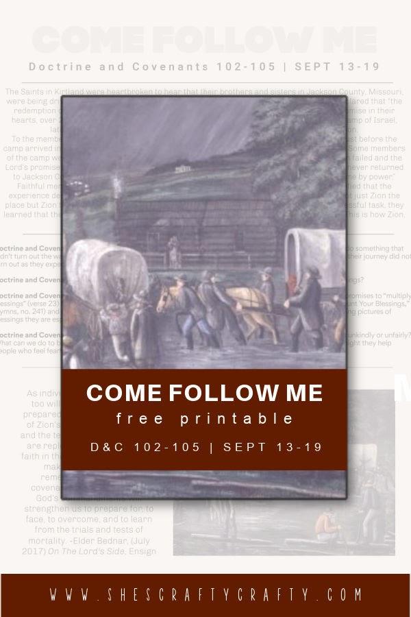 Come Follow Me printable Sept 13-19
