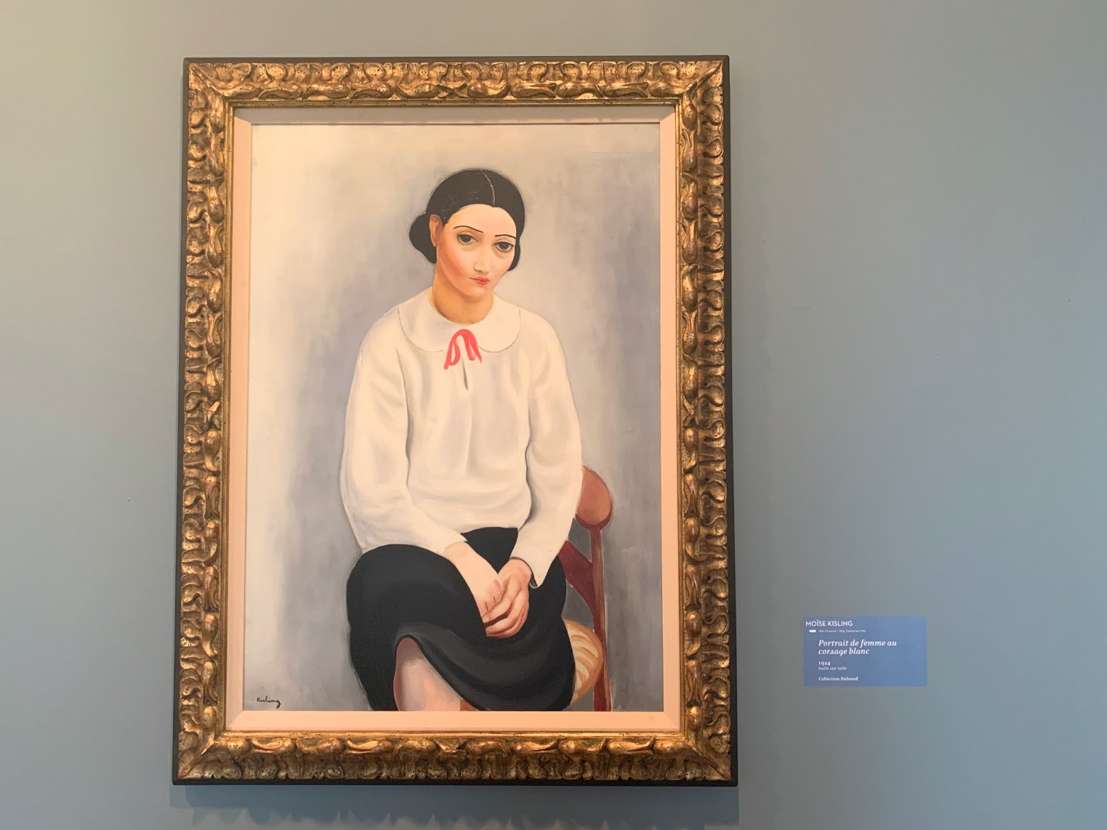 Kisling, Portret kobiety w białym biustonoszu