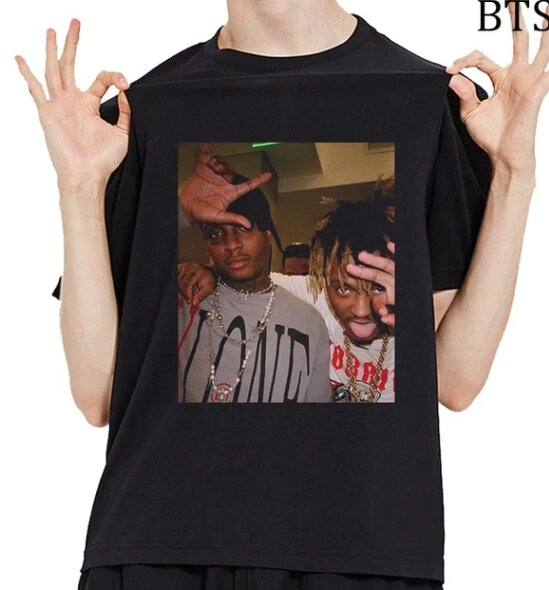 O-Neck T-shirt Rip Juice Wrld Printed