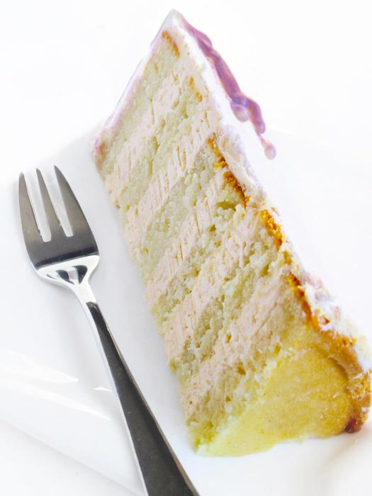 Raspberry caramel coconut layer cake recipe tinascookings.blogspot.com