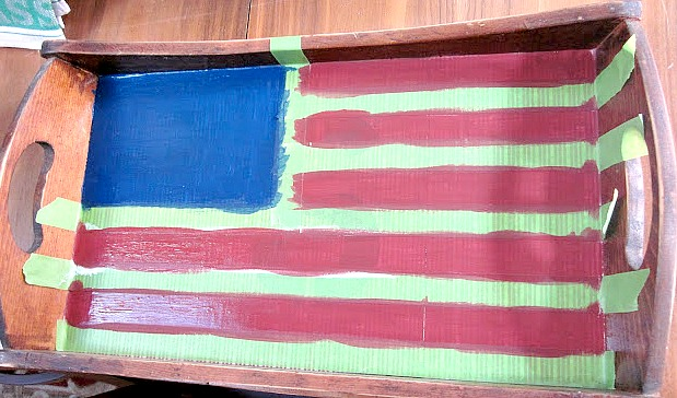 DIY wooden tray American Flag