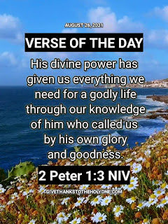 Verse of the Day August 26 2021 (Bible Verse) - Give Thanks To The Holy One