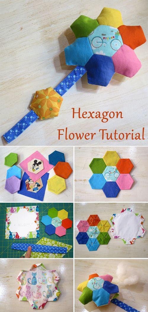 Hexagon Flower Tutorial Patchwork