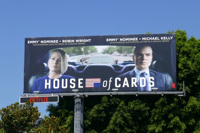 House of Cards 2019 Emmy nominee billboard