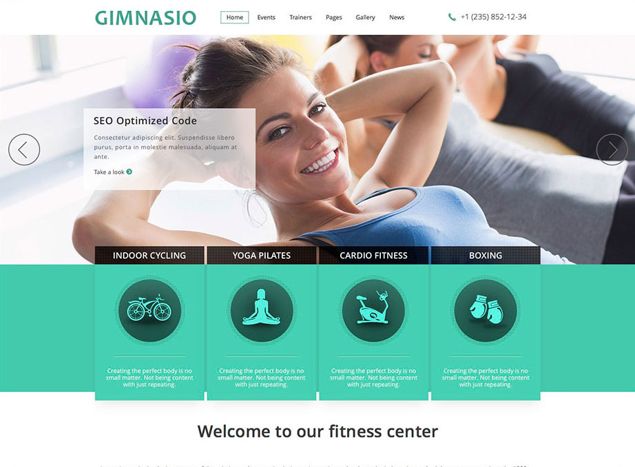 Gimnasio Responsive WordPress Theme