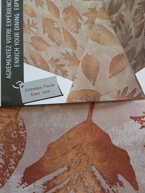 Fall leaf tablecloth at The Camellia
