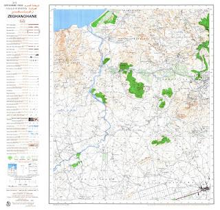 Zeghanghen Morocco 50000 (50k) Topographic map free download