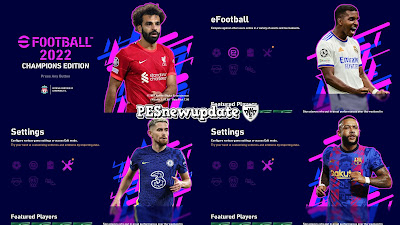 PES 2021 Menu Mod eFootball 2022 Champions Edition V2 by PESNewupdate