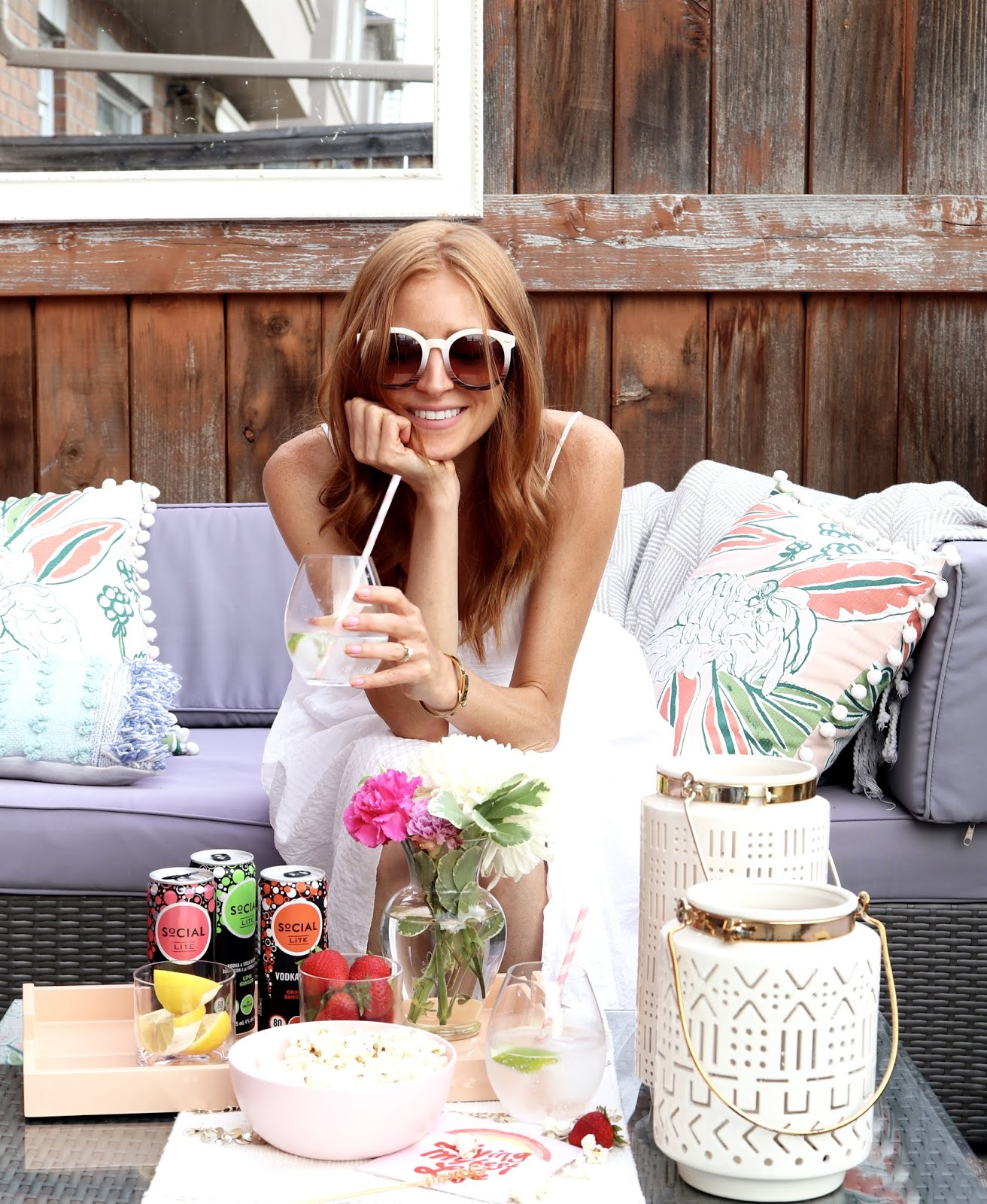 How to turn your patio into an oasis with social lite vodka