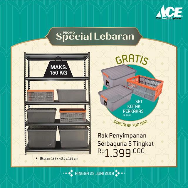 #AceHardware - #Promo Special Lebaran Beli Rak Gratis Kotak Perkakas (s.d 25 Juni 2019)