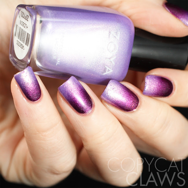 Purple Zoya Gradient Nails