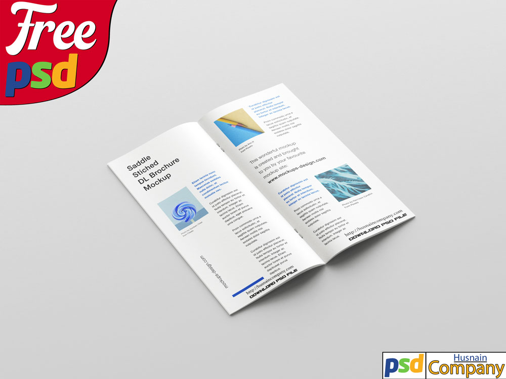 Download Free Clean Brochure PSD Mockup #3