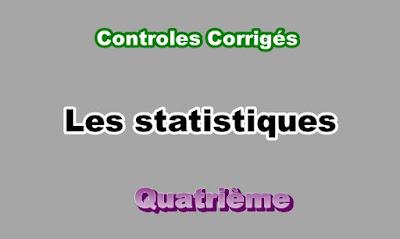 Controles Corrigés de Statistiques 4eme en PDF