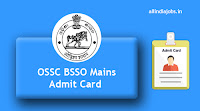 OSSC BSSO Mains Admit Card