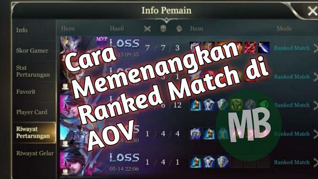 Tips Memenangkan Ranked Match di Garena AOV - MasBasyir