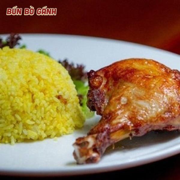 Cơm Đùi Gà Nướng - Grilled Chicken Thigh with Rice