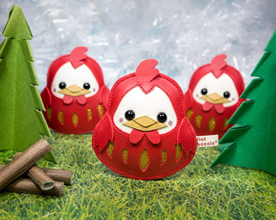 """Good Luck"" Pocket Rooster Daruma Plush by Flat Bonnie"