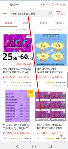 Ketik Axis AIGO 25GB