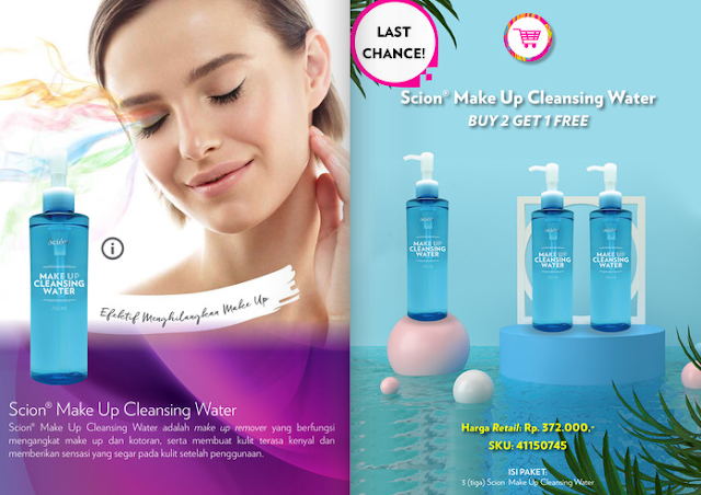 Promo Scion Makeup Cleansing Water Nu Skin September 2020