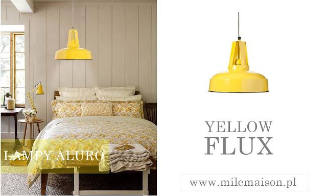 Żółta lampa wisząca, lampy wiszące